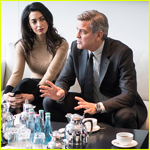 George Clooney & Amal Meet With German Chancellor Angela Merkel To Discuss Crisis In Syria!