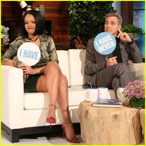 Watch George Clooney & Rihanna Play 'Never Have I Ever'!