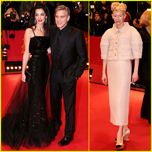 George Clooney Brings 'Hail Caesar' to Berlin with Wife Amal!