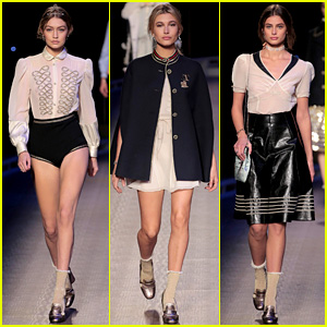 Gigi Hadid & Hailey Baldwin Walk the Tommy Hilfiger Runway at NYFW 2016!