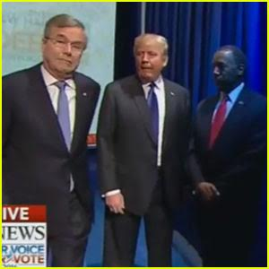 Republican Candidates Can't Figure Out How to Walk On Stage at GOP Debate (Video)