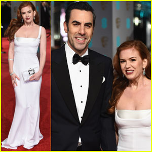 Isla Fisher & Sacha Baron Cohen Hit BAFTAs 2016 Red Carpet