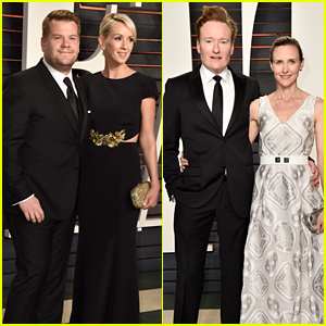 James Corden & Conan O'Brien Bring Lovely Wives to Vanity Fair Oscar Party 2016