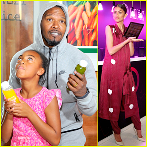 Jamie Foxx Brings Friend's Daughter To Oscar Style Lounge