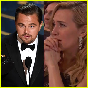 Kate Winslet Cries During Leonardo DiCaprio's Oscars Speech