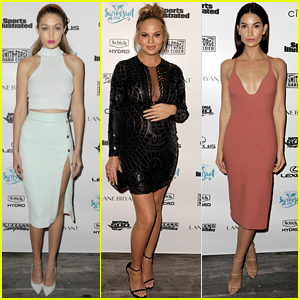 Gigi Hadid & Lily Aldridge Get Glammed Up for 'Sports Illustrated Swimsuit Issue' Cruise in Miami!