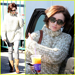 Lily Collins Shares Photo From Table Read For 'The Last Tycoon'