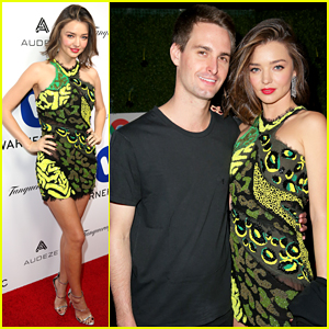 Miranda Kerr & Boyfriend Evan Spiegel Couple Up At Grammy 2016 After Parties!
