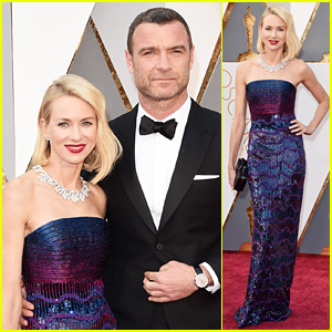 Naomi Watts & Liev Schreiber Hit Oscars 2016 Red Carpet in Style!