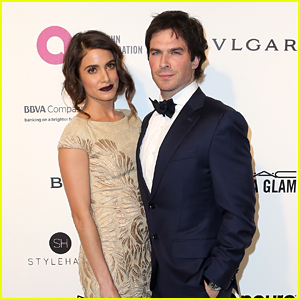 Nikki Reed & Husband Ian Somerhalder Are Couple Goals At Elton John AIDS Foundation's Oscar Viewing Party 2016