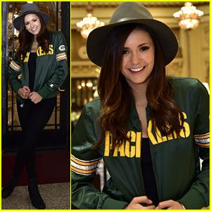 Nina Dobrev Reps Her Favorite Football Team at Super Bowl 50!