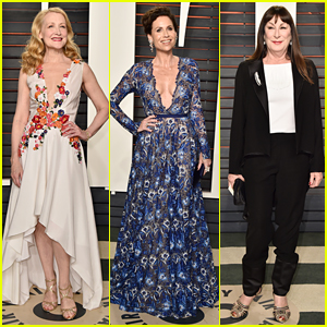 Patricia Clarkson & Minnie Driver Are Floral Beauties at Vanity Fair Oscar Party 2016