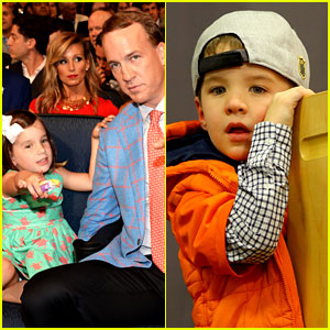 Peyton Manning's Kids Mosley & Marshall Are So Cute! (Photos)