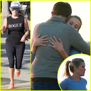 Reese Witherspoon & Adam Scott Hug It Out for 'Big Little Lies'