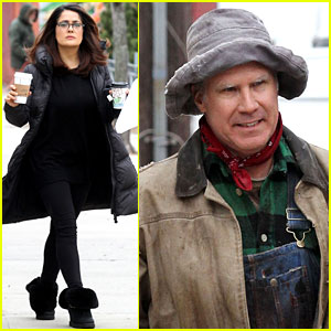 Salma Hayek Gets to Work on 'Drunk Parents' with Will Ferrell
