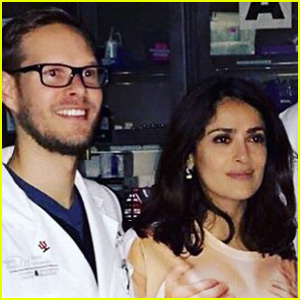 Salma Hayek Heads to the Hospital...in a Hilarious T-Shirt!
