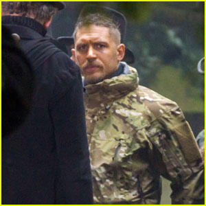 Tom Hardy Goes Camouflage for 'Taboo' Filming in London