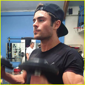 Zac Efron Shows Off Insanely Buff Body at the Gym