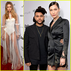 Bella Hadid Gets Support from Gigi & The Weeknd at Daily Front Row Awards!