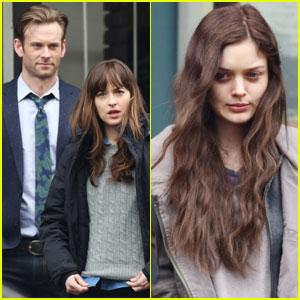 Dakota Johnson Films 'Fifty Shades Darker' Scenes With Eric Johnson & Bella Heathcote