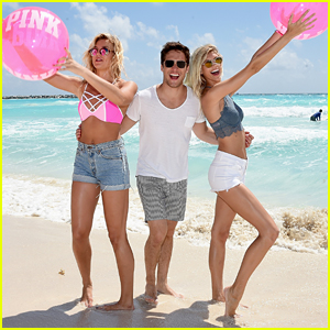 Diego Boneta Hangs With Devon Windsor at Pink Nation's Spring Break Beach Party