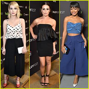 Lea Michele & Emma Roberts Hit 'Scream Queens' Paleyfest Panel
