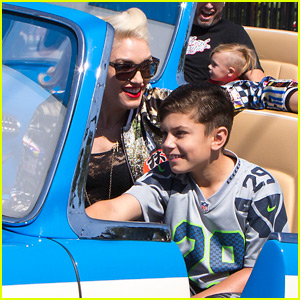 Gwen Stefani & Son Kingston Spend the Day at Disney's Cars Land