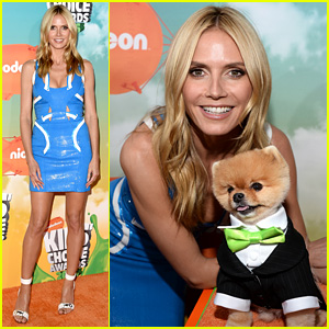 Heidi Klum Chooses Versace for Kids' Choice Awards 2016!