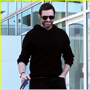 Hugh Jackman Spends Day With His Dogs After Landing in New York