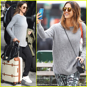 Jessica Alba Heads to NYC After Celebrating Easter in LA