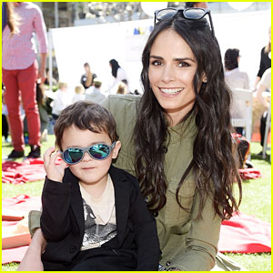Jordana Brewster Brings Son Julian to Alliance of Moms Event