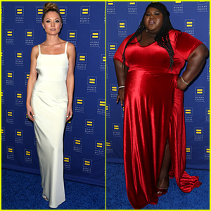 Empire's Kaitlin Doubleday & Gabourey Sidibe Step Out for HRC Gala