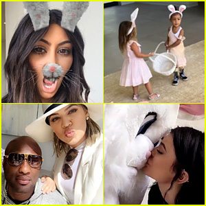 Kardashians Share Easter Snapchats From Their Fun-Filled Sunday!
