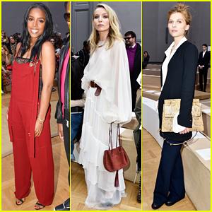Kelly Rowland & Annabelle Wallis Hit Paris Fashion Week for Chloe Show!
