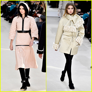 Kendall Jenner & Gigi Hadid Walk Runway in Chanel Paris Fashion Week 2016 Show