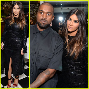 Kim Kardashian & Kanye West Join Pal Carine Roitfeld at Daily Front Row Awards Dinner Party