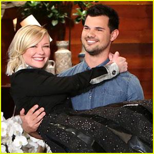 Kirsten Dunst Gets Swept Away by Taylor Lautner on 'Ellen'
