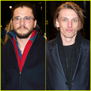 Kit Harington & Jamie Campbell Bower Have Theatre Night At 'The Maids'!