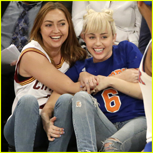 Miley Cyrus Wears Shiny New Engagement Ring At NY Knicks Game
