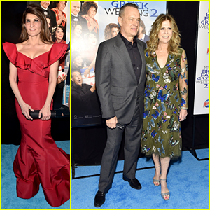 Nia Vardalos Joins Tom Hanks & Rita Wilson For 'My Big Fat Greek Wedding 2' Premiere