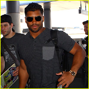 Russell Wilson Catches a Flight with Ciara's Son Future Jr
