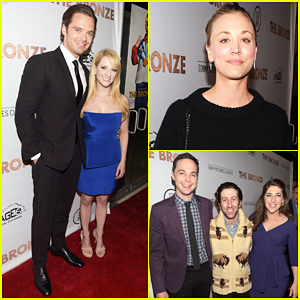 Sebastian Stan & Melissa Rauch Get Support From 'Big Bang Theory' Cast At 'The Bronze' Premiere!