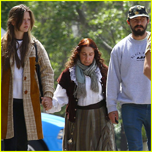 Shia LaBeouf Takes Mia Goth & His Mom Out to Easter Brunch