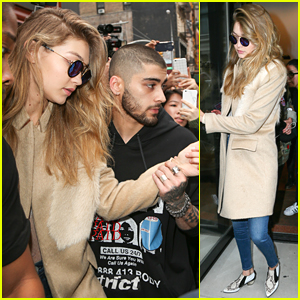 Zayn Malik Rushes To Gigi Hadid During Swarm Of Fans Outside Apartment