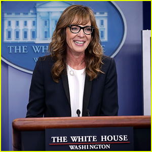 Allison Janney Reprises 'West Wing' Role in White House Press Room (Video)