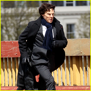 Benedict Cumberbatch Films Running Scene for 'Sherlock'