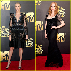Charlize Theron & Jessica Chastain Rep 'Winter's War' at MTV Movie Awards 2016