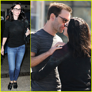 Courteney Cox Kisses Johnny McDaid Before Her Flight Home