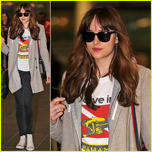 Dakota Johnson Takes a Break from 'Fifty Shades' Filming