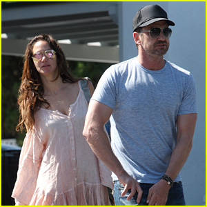 Gerard Butler & Girlfriend Morgan Brown Grab Groceries Together